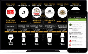 TapHunter digital drink menu app