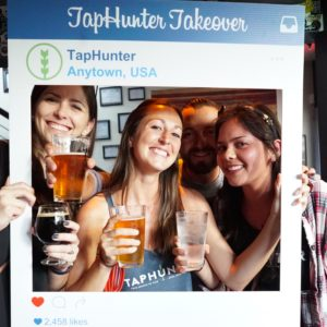 TapHunter staff at Happy Hour