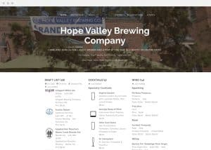 Hope Valley Brewing Co Website Drink List