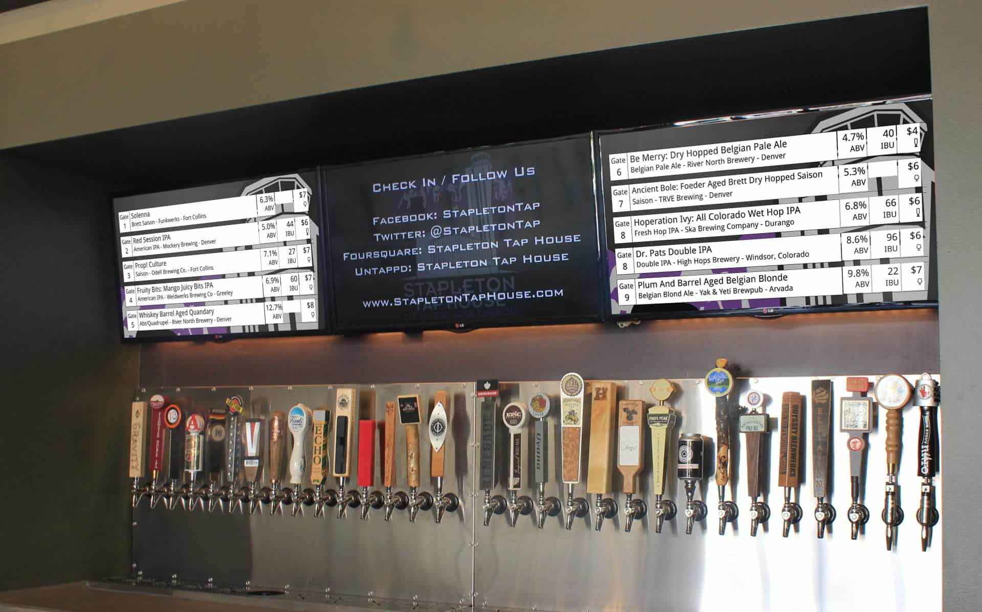 Stapleton Tap House Digital Menu