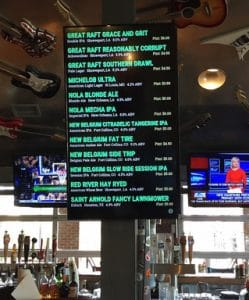 twisted root vertical digital drink board