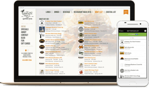 taphunter website drink list builder