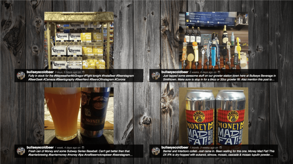 Bullseye Wholesale Instagram Digital Display | How Digital Displays and Social Media Improve Bar Customer Experience