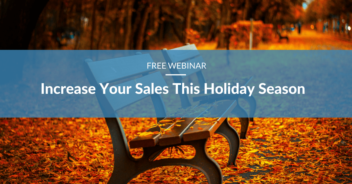 image promoting webinar about increasing sales during holiday season