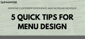 Photo for blog post featuring an infographic and tips for menu design