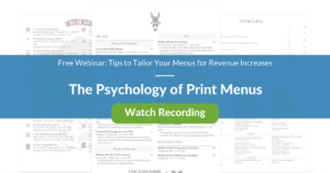 promo img for webinar about properly tailoring menu for revenue
